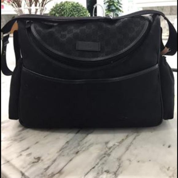 62b03fc9b096b4 Gucci Bags | Authentic Black Diaper Bag | Poshmark